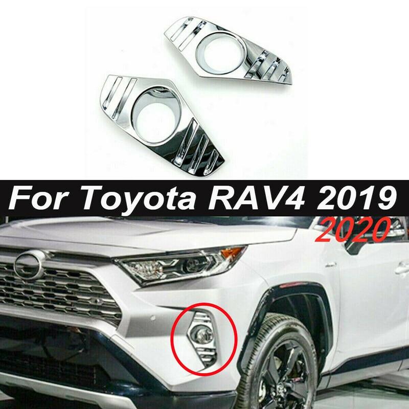 Accessories Light Trim Exterior Fog Cover For Toyota RAV4 2019 Replacement