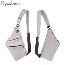 BYCOBECY sac à bandoulière imperméable pour hommes, nouveau sac de poitrine en Nylon ultraléger, sac à bandoulière masculin, petit voyage, décontracté