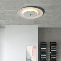 Nordic round bedroom ceiling lamp post modern minimalist home balcony book room round LED ceiling light