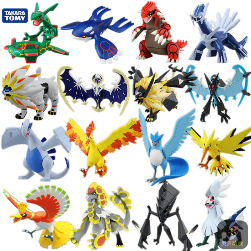 Tomy Pokemon Large 8-15CM HP Charmander Popplio Litten Pikachu Rowlet Treecko Eevee Fennekin Anime Action Figure Dolls Toy