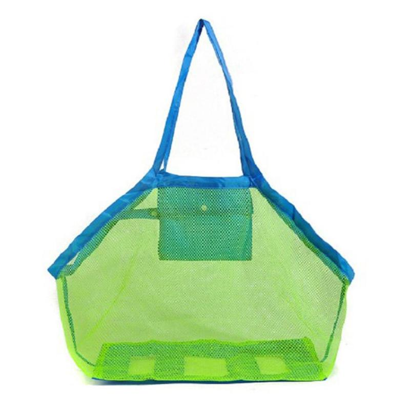 Children Sand Away Protable Mesh Bag Kids Beach Toys Storage Sundries Bags Kids Toy Storage Bag