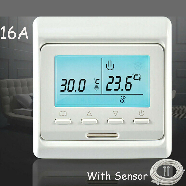 1Set Digital Underfloor Heating Thermostat Temperature Controllers Programmable Family Intelligence System