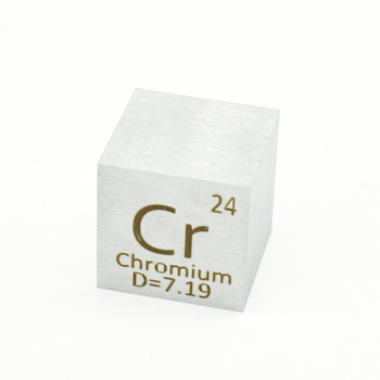 Chromium Cr Inch Cube 25.4x25.4x25.4 mm High Purity Element Density Chrome Exquisite Metal Collection for Science and Gifts 3 gram 99 9% chromium metal in glass vial element 24 sample
