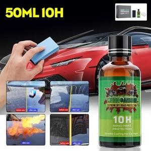50ML Car Paint Coating Liquid 10H Glass Polish Liquid Ceramic NanoHydrophobic Coating Scratch Resistant Crystal Protection Set