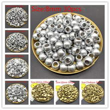 New Jewelry Accessories Acrylic Beads Gold silver Pearl Loose Hole Making DIY 28 Styles