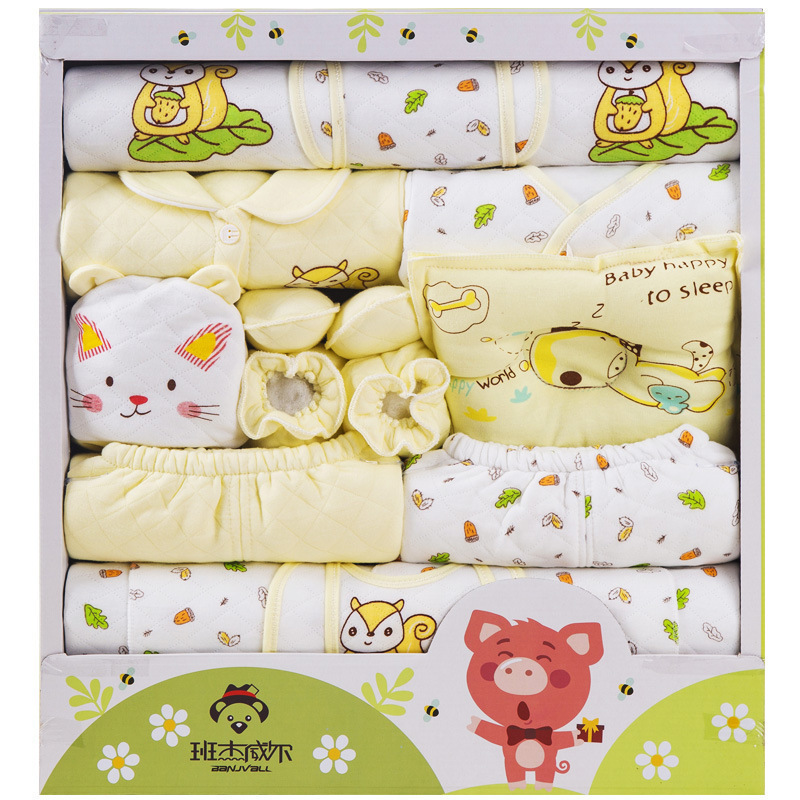 1329 # Newborns Born Gift Box Infant's Outfit Winter Thick Warm BABY'S FIRST Month Gift Box