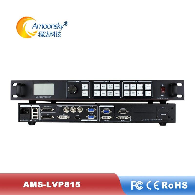 P3.91 led screen display use ams-lvp815 hd processador de tela de vídeo com função de pré-comutação comparar a novastar led processador