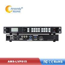 Placa de parede led cor cheia ams-lvp815 led controlador de tela vídeo com 8 canais de entrada comparar a vdwall display processador