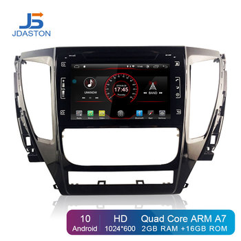 JDASTON Android 10.0 Car DVD Player For Mitsubishi Pajero Sport 2016 2017 2018 Multimedia GPS Navigation 2 Din Car Radio Stereo image