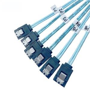 Image 4 - 6 Stks/set 1M/0.5M 7PIN Sata Kabel 7 Pin Sata Naar 7 Pin Sata Kabel 7 P sata Sas Kabel 6Gbps Sata Data Cable Koord Voor Server Hdd