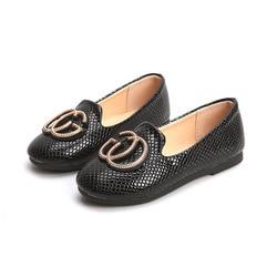 Skoex Girls Flat Princess Shoes Kids Fashion Pu Leather Shoes Solid Ballerina Slip-on Children Girls Wedding Party Dress Shoe