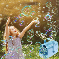 Bubbles Blower Portable Handheld Electric Bubbles Blower Funny Fan Toys for Kids Birthday Gift Outdoor Playing Bubble Toy