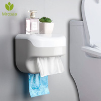 2019Newest Wall-mounted Suction Tissue Dispenser Napkin Holder Box Paper Tray Roll Waterproof Toilet Paper Shelf Holder Bathroom