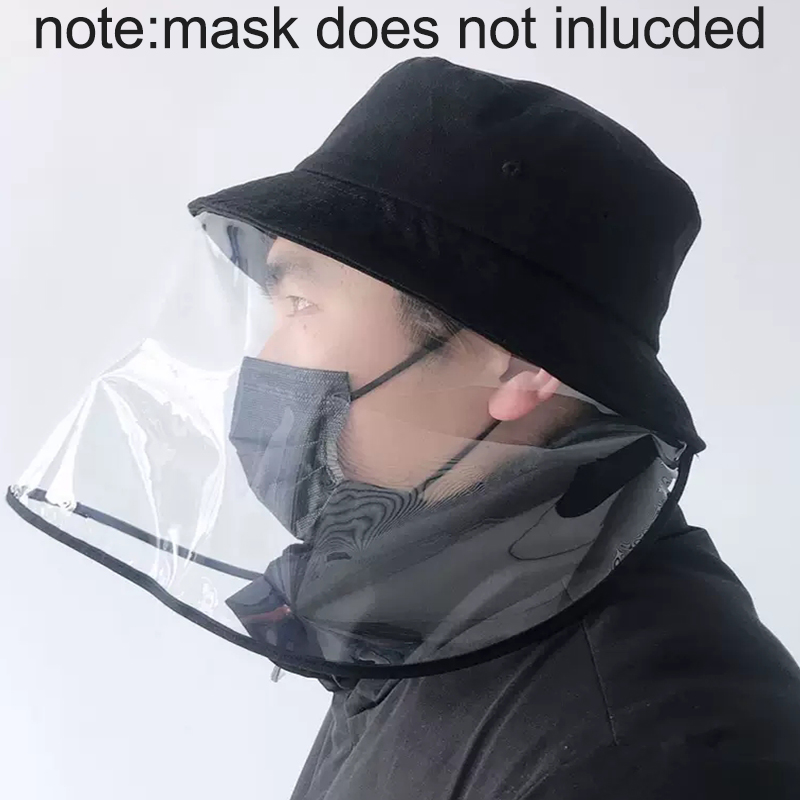 Reuse NEW Safety Anti Germs Dust Mask Plastic Cover With Hat Anti Flue Spittle Anti Dust Cover Full Face Eyes Protection Mask