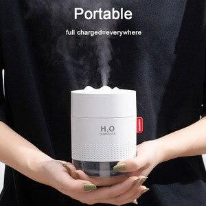 Image 4 - Taşınabilir Mini USB hava nemlendirici 2000mAh pil şarj edilebilir seyahat ev bebek ofis araba uçucu yağ aromaterapi difüzör