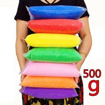 500g/bag Polymer Clay Super Light Soft Modeling Polymer Clay Plasticine DIY Children Toys Learning Slime Kids Toy