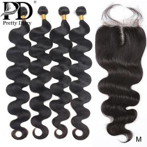 28, 30, 40 дюймов, волнистые бразильские волосы, пряди с закрытием, человеческие волосы, пряди с закрытием, Remy, волосы для наращивания