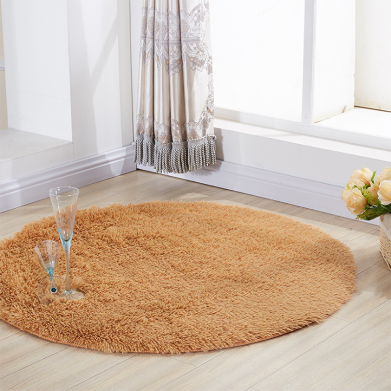 Modern Plush Round Carpet For Living Room Bedroom Soft Comfortable Solid Rugs Non-slip Floor Mats 9 Colors 10 Sizes