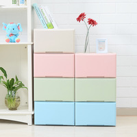Storage box drawer type free combination large plastic household clothes box bedroom wardrobe clothes storage cabinet mx9101028