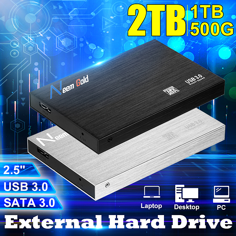 2.5 Inch SATA 3.0 External Hard Drive 1TB/2TB USB 3.0 6Gbps HDD Mobile Hard Disk Disco Duro Externo For MAC/WIN Computer Laptop
