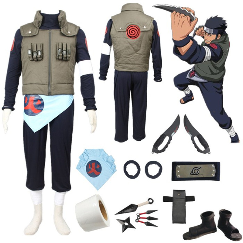 Top Sale Deluxe N aruto Asuma Sarutobi Uniform Cosplay Costume For Halloween