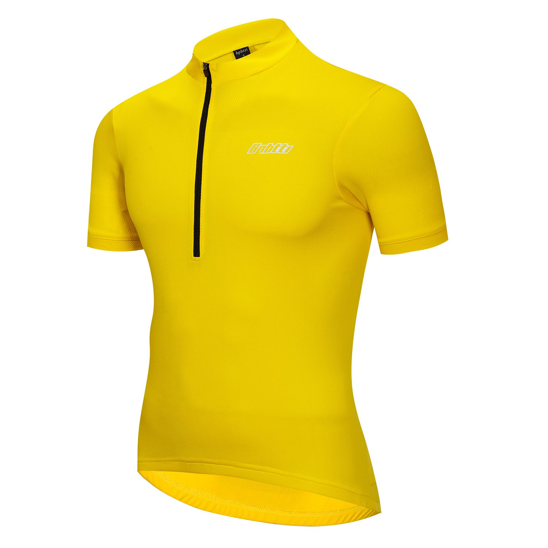 Men's Cycling Jersey Bike Biking Shirt With Half Front Zipper & 3-Rear Pockets