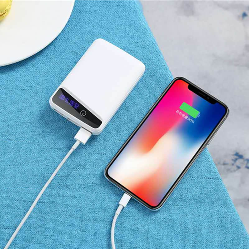 DIY Battery Power Bank Case Box For Phone Charger 3 Pcs 18650 Batterys Charging Cover With 3 USB Ports