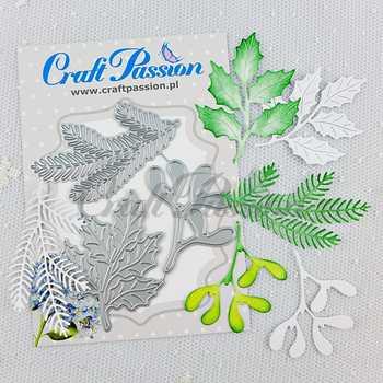 New christmas twigs Metal Cutting Dies Scrapbooking background craft Card Making Embossing Rectangular Pattern