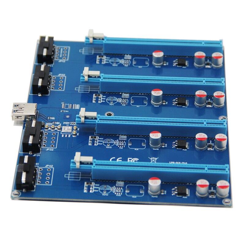 PCI-E 1x Комплект расширения PCI Express от 1 до 4 порт PCI Express Switch мультипликатор хаб-удлинитель карта PCIE x1 до x16 адаптер для BTC Miner
