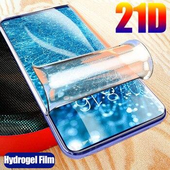 Перейти на Алиэкспресс и купить 21D изогнутая полностью Гидрогелевая пленка для vivo V17 Neo V 17 V17Neo Y91C Y91i Y91 Y11 Y12 Y15 Y19 2019 Защитная пленка для экрана (не стекло)