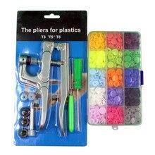 360 Sets T5 Plastic Drukknoop Met Snaps Tangen Tool Kit & Organizer Containers Gemakkelijk Bedienen Snaps Diy Familie Naaien gereedschap