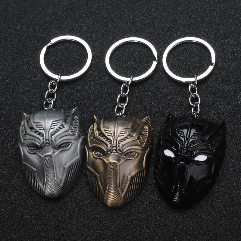 Film Peripheral Accessories Key Chain Marvel Legends Avengers Captain America Keychain Panther Mask  Hot Style Keyring