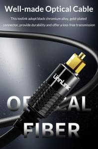 Image 4 - Unnlink HIFI 5.1 SPDIF Fiber Toslink Optical Cable Audio 1m 2m 8m 10m for TV box PS4 Speaker Wire Soundbar Amplifier Subwoofer