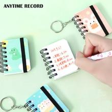 2PCS Hard Cover Cute Ring Binder Mini Notepad Cartoon Portable Hand Account School Kawaii Planner Memo Pad 2020 Agendas Notebook