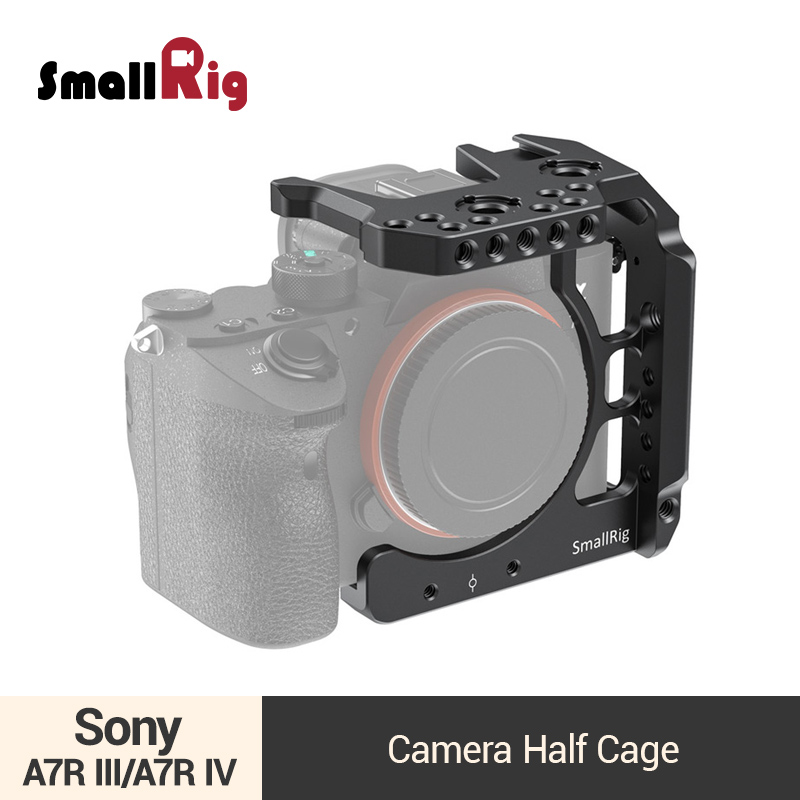 SmallRig Half Cage For Sony A7 III/A7R III/A7R IV Camera Cage Video Shooting Kit With Cold Shoe Mount/Nato Rail- 2629