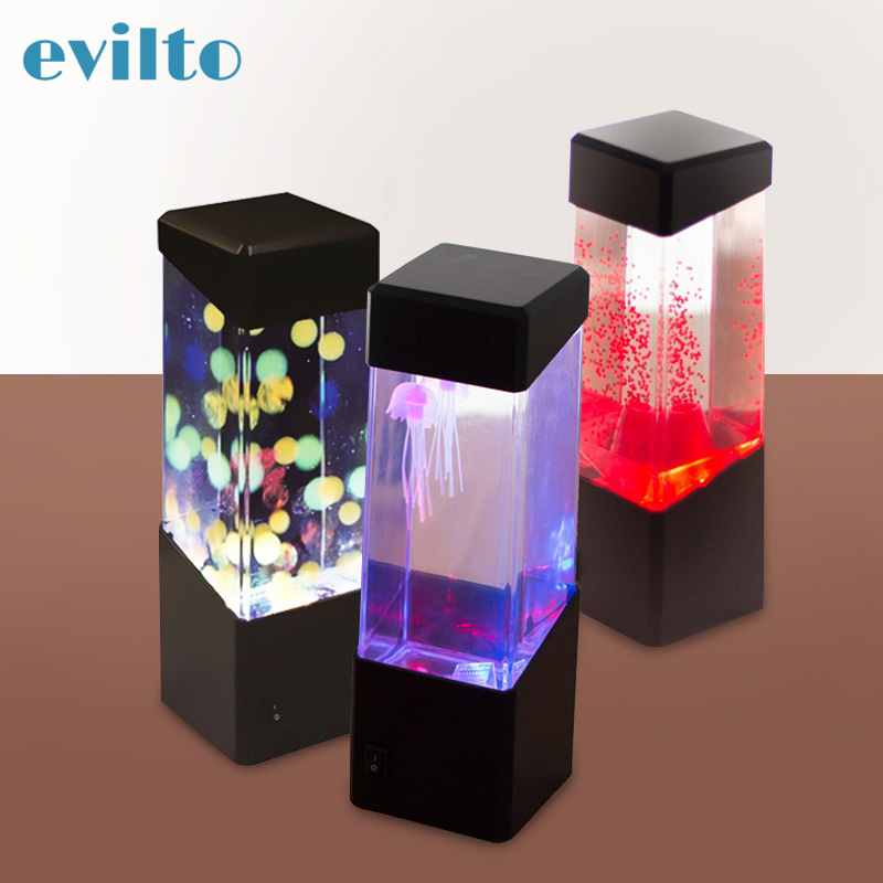 7Colorful Jellyfish Tank Mood Light Led Lamp Sensory Autism Lave Lamp Desk Changing Mood Lamp For Home Decoration Magic Lamp