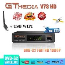Hot sale GTMEDIA V7S HD DVB-S2 Receptor GT Media V7S USB wifi FHD 1080P Satellite TV Receiver High Quality