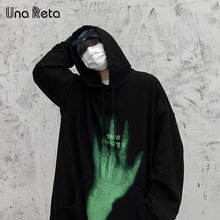 Una Reta Hoodie Men 2021 New Clothing Pullover Men Harajuku Print Tops Oversized Hoodie Plus Size Sweatshirt Man Streetwear
