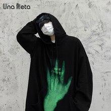 Una Reta Hoodie Men New Men Clothing Pullover Harajuku Tops Oversized Hoodie Women Plus Size Couples Sweatshirt Man Streetwear
