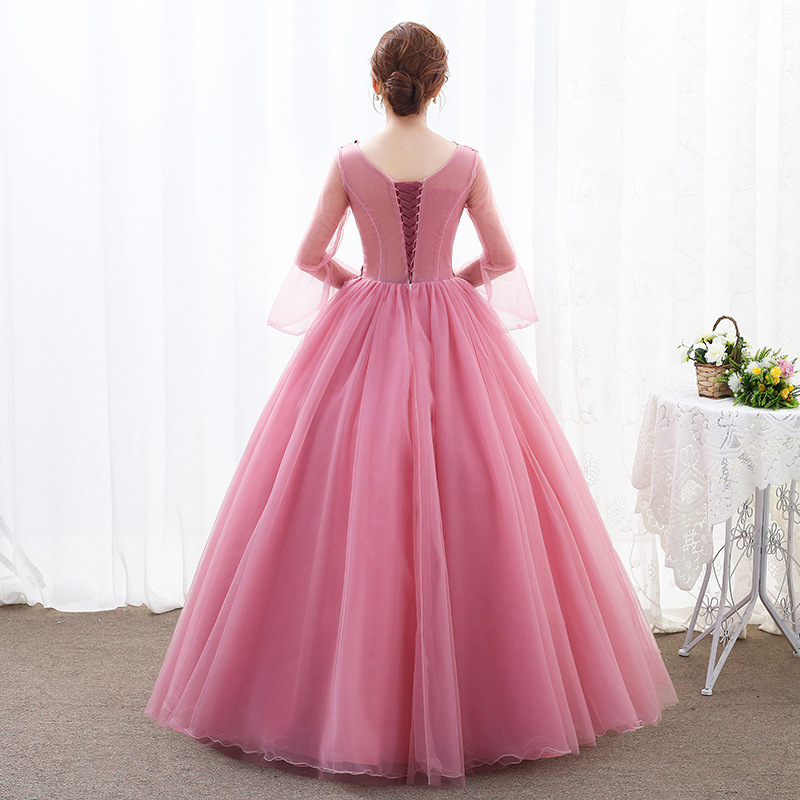 Image 4 - Lace Quinceanera Dresses Ball Gown Long Sleeve Tulle Prom  Debutante Sixteen 15 Sweet 16 Dress Quinceanera KleidQuinceanera  Dresses