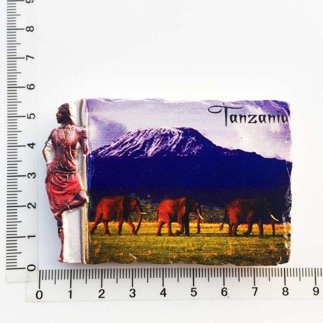 3d Resin Magnets Tanzania Africa Cultural Landscape Tourism Fridge Magnet Souvenir Home Decoration Accessories gift ideas 4
