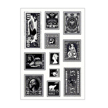 Clear Stamps Character Vintage Rubber Transparent Stamp Seal For DIY Scrapbooking Card Making Album Decorative Silicon Craft