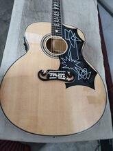 Guitarra Eléctrica acústica de arce con diseño de llama, instrumento musical de arce con diseño de llama natural, hecho a mano, Envío Gratis