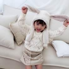Детская одежда для девочек и мальчиков на зиму милый кролик