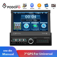 Podofo One din Car radio GPS Navigation Car Multimedia Player 7 HD Bluetooth USB Car stereo For VW Toyota Universal Autoradio