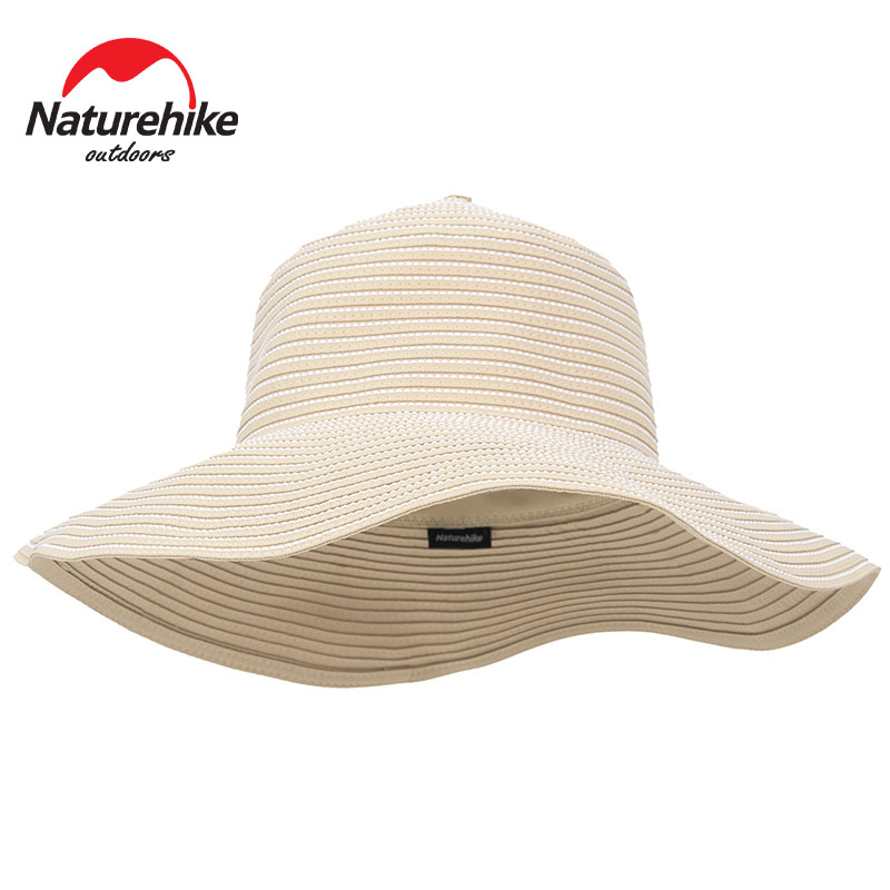 Naturehike Sun Hats Foldable Wide Brim Sun Hat Women Straw Hat Beach Caps Summer Hat UV Protect Lady Hat Surf for Beach Vacation