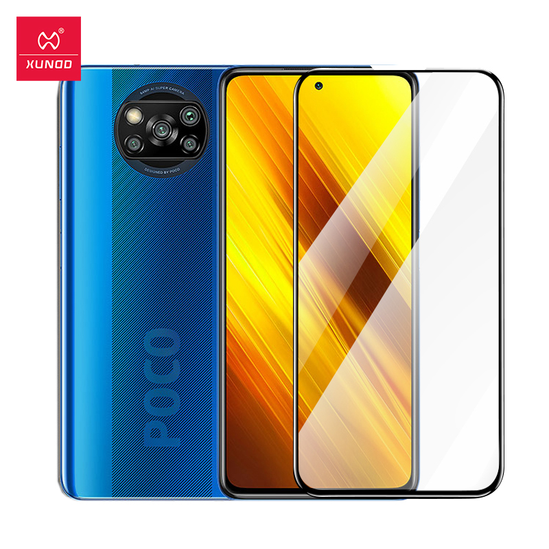 Xundd Screen Protectors For Xiaomi POCO X3 Glass Protective Full Covered Tempered Film For Xiaomi POCOPHONE POCO X3 X 3 NFC Phone Screen Protectors  - AliExpress