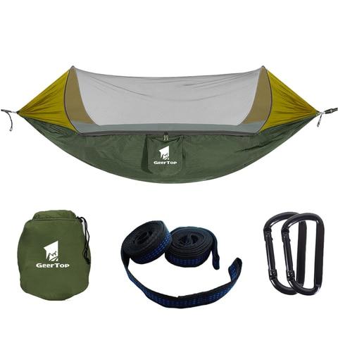 geertop 1 2 pessoa rede ao ar livre anti mosquito tenda de acampamento balanco pendurado