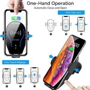 Image 3 - Auto Clamping 10W Qi Fast Wireless Car Charger for Blackview BV9900 BV9800 BV9700 BV9600 BV5800 BV9600 Plus BV6800 Pro Holder