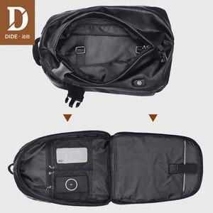 Image 2 - DIDE 2020 זכר תרמיל USB תשלום עמיד למים 15.6 אינץ מחשב נייד תרמיל עור נסיעות מזדמן בציר בית ספר תיק לגברים שחור